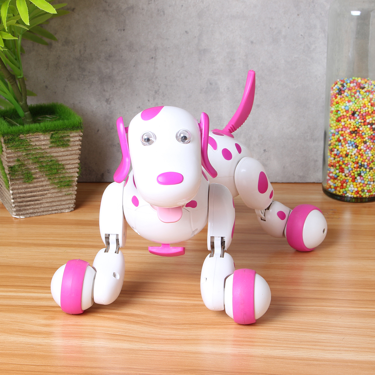 Pink 2.4G RC Smart Dance Walking Remote Control Robot Dog Electronic Pet For Kid Toy