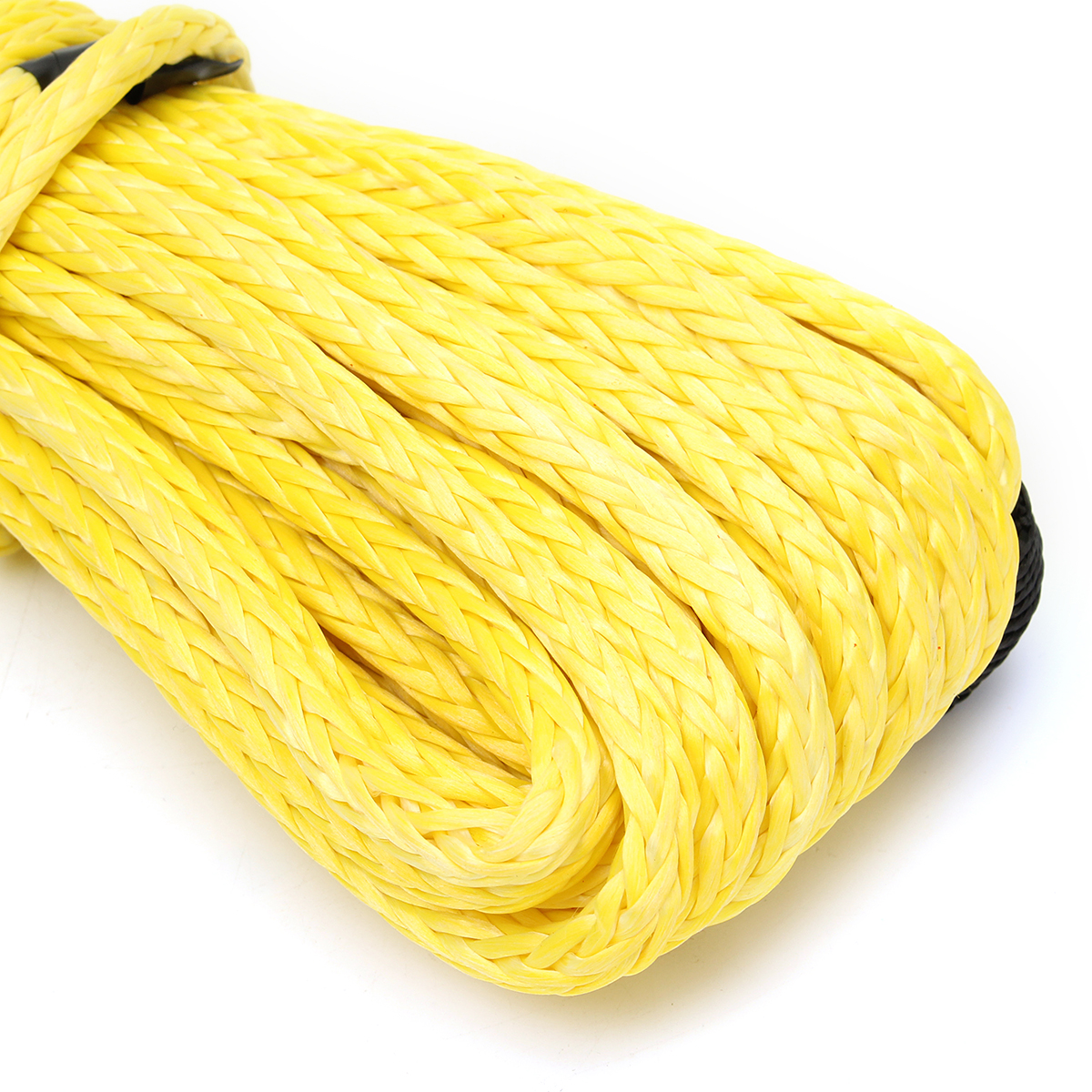 7000 Lbs 50Ft Yellow Synthetic Winch Rope Cable Towing Rope ATV Winch Line 1/4 Inch