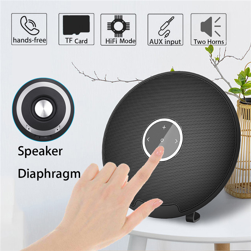 Universal 4400mAh Touch Control 3.5mm TF Card Wireless bluetooth Speaker with Mic for Xiaomi Samsung
