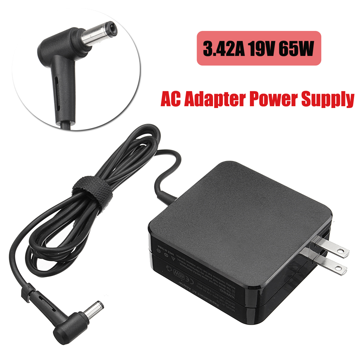 3.42A 19V 65W AC Adapter Laptop Notebook Charger AC Adapter Power Supply For Asus