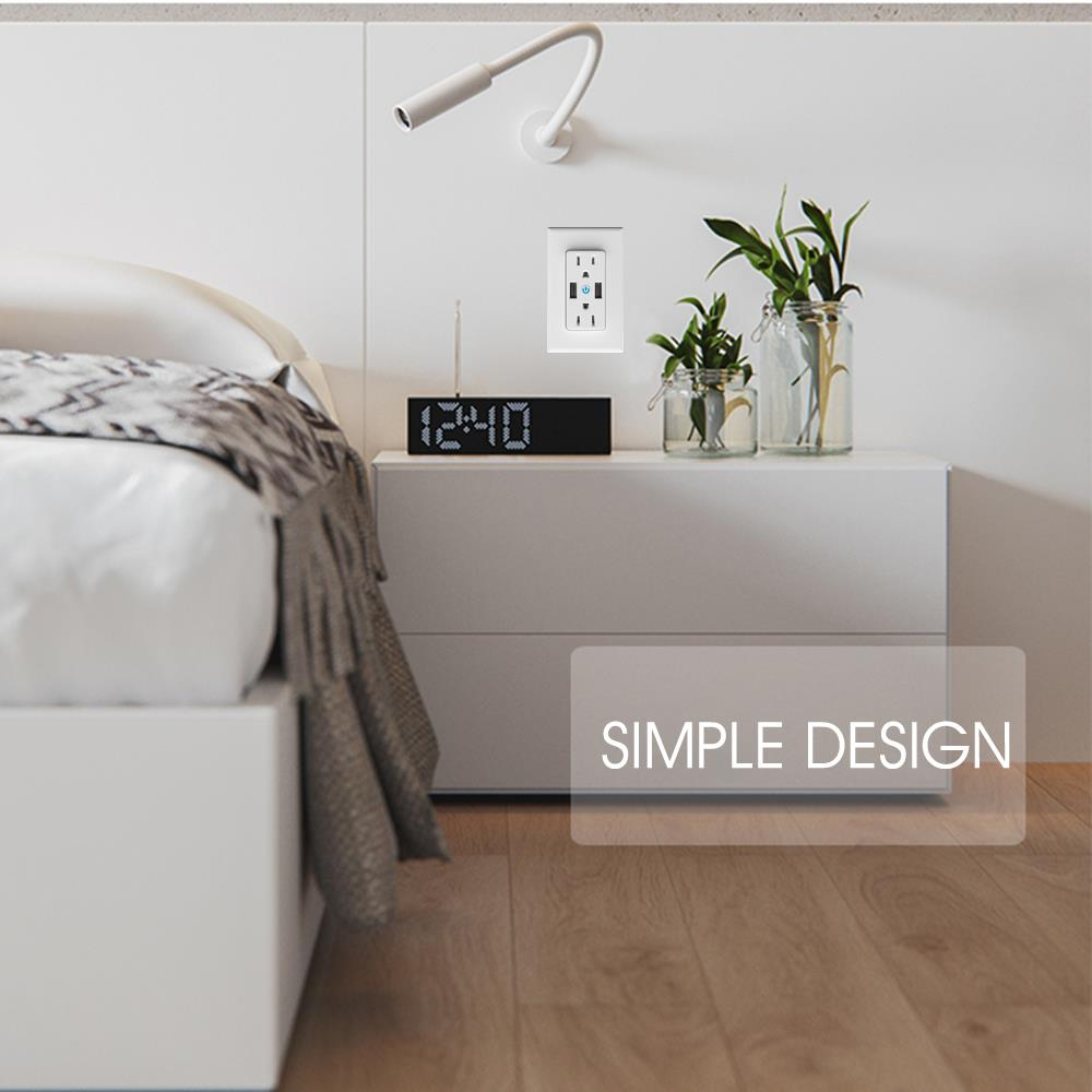 Bakeey T16 WIFI Remote Control Smart Home Wall Socket Power Switch For Amazon Alexa Google Assistant