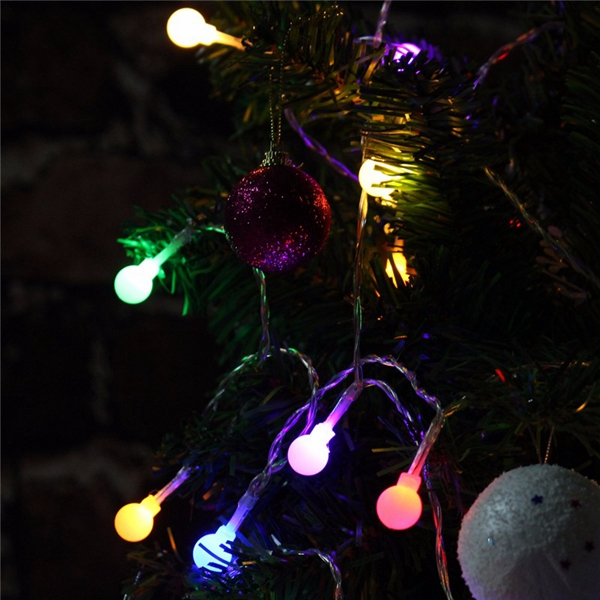 Battery Powered 1.5M 10 LED Ball Fairy String Light Outdoor Christmas Wedding Xmas Party Decor