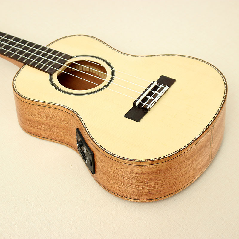 Tom TUT-280E 26 Inch Uke Ukulele Solid Spruce Top Mahogany With Pickup