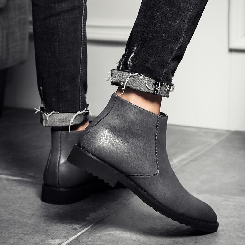 Men Retro Ankle Boots