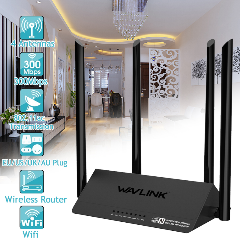 Wavlink 521R2P 4x5dBi Antennas 300Mbps APP Control Wireless Wifi Router Repeater Signal