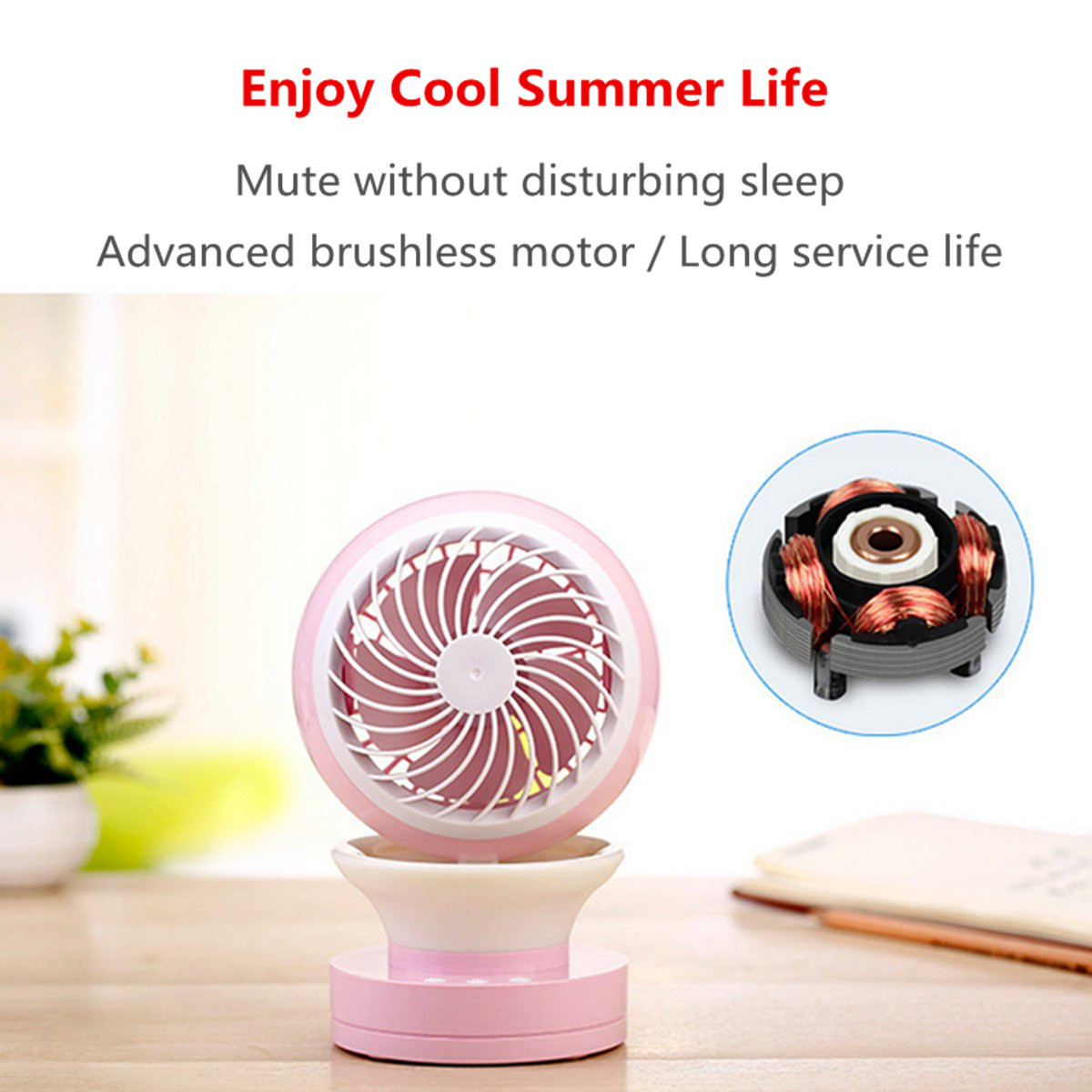 Mini Portable Air Conditioning Fan USB Mist Spray Home Office Cooling Humidifier