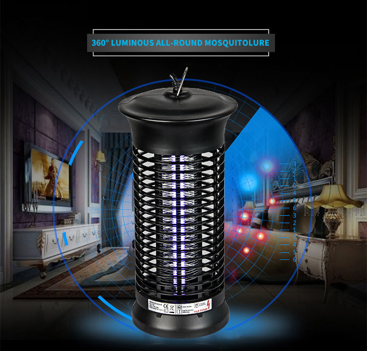 Garden 6W LED Electric Noiseless Mosquito Dispeller Insect Killer Flying Bug Repellent Night Light