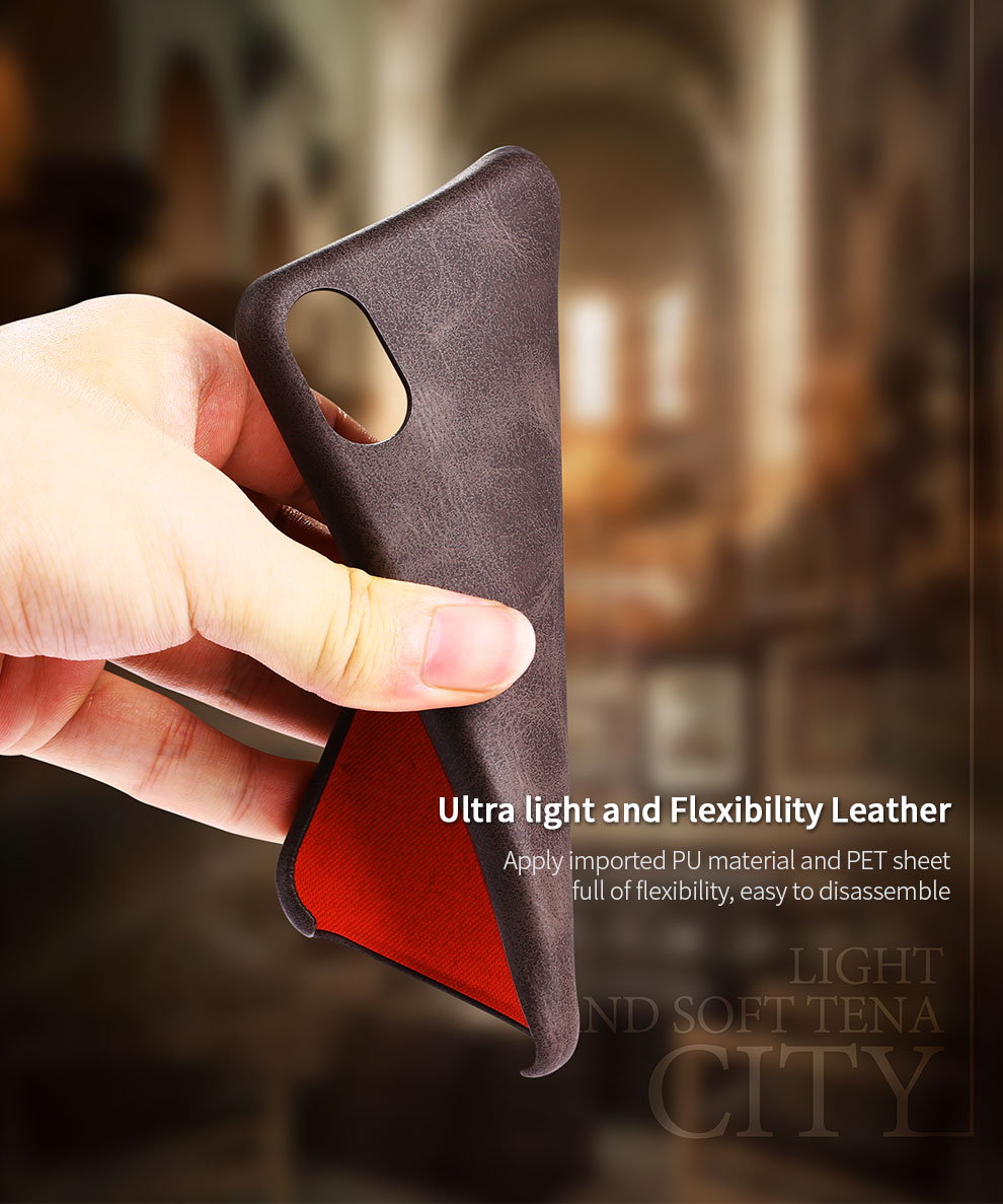 Bakeey™ Retro Soft PU Leather Ultra Thin Protective Case for iPhone X