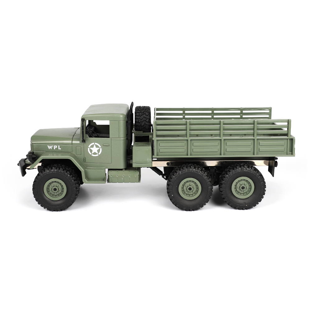 WPL B16 1/16 2.4G 6WD Military Truck Crawler Off Road RC Car With Light RTR