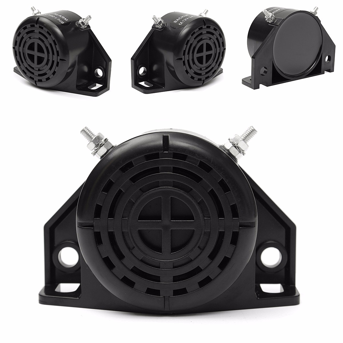 105DB Motorcycle Car Vehicle Reversing Horn Speakers Back-up Alarm System Buzzer Black