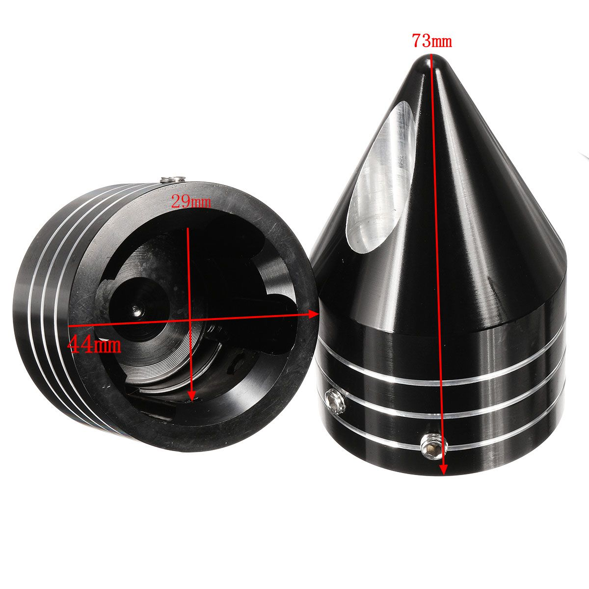 CNC Deep Cut Spike Front Axle Cap Nut Covers For Harley Dyna Touring Road King