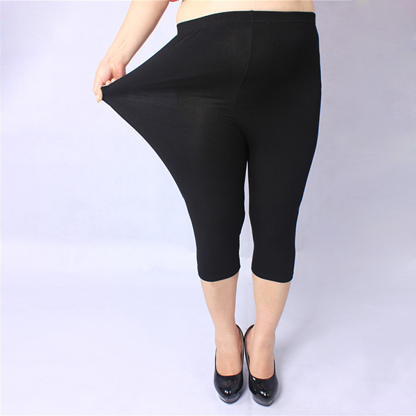 Women Plus Size Modal Breathable Leggings Soft Safety Stretch Seventh Leggings