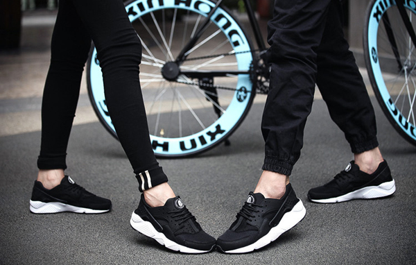 Unisex Sport Casual Outdoor Running Flat Fashion Breathable Mesh Lace Up Athletic Shoes