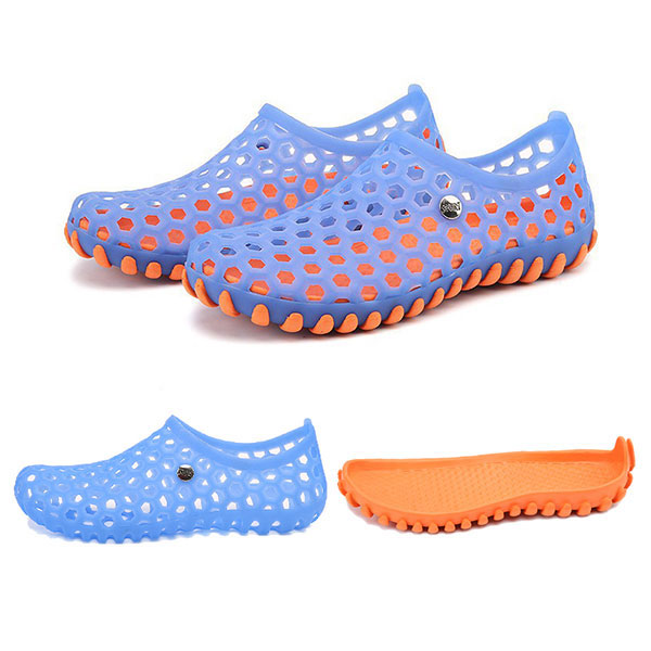 Men Sandals Casual Beach Slip On Hollow Out Outdoor Shoes