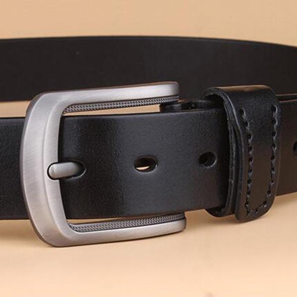 Men Retro Business Leather Belt Casual Needle Buckle Waistband Strip Belt