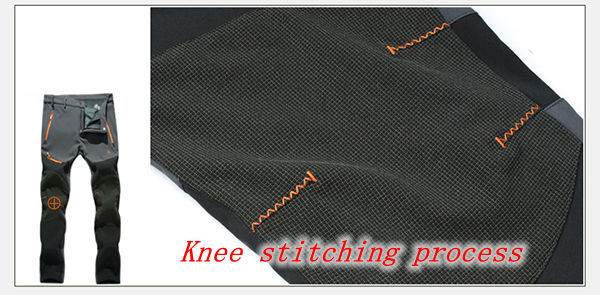 Outdoor Sports Mens Assault Pants Plush Warm Waterproof Breathable Climbing Hiking Trousers