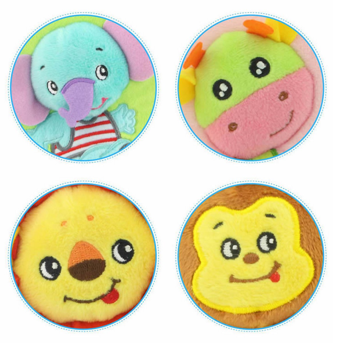 Cartoon Plush Safety Baby Cushion Car Seat Strap Belt Shoulder Cover Pads