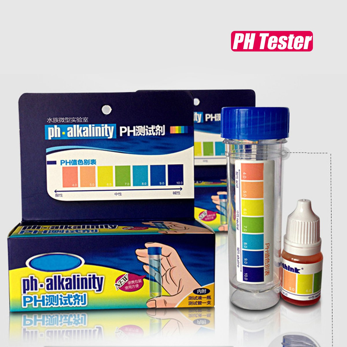 Aquarium Fish Tank PH NO2 NO3 Nitrite Nitrate Chlorine Water Quality Tester Kit