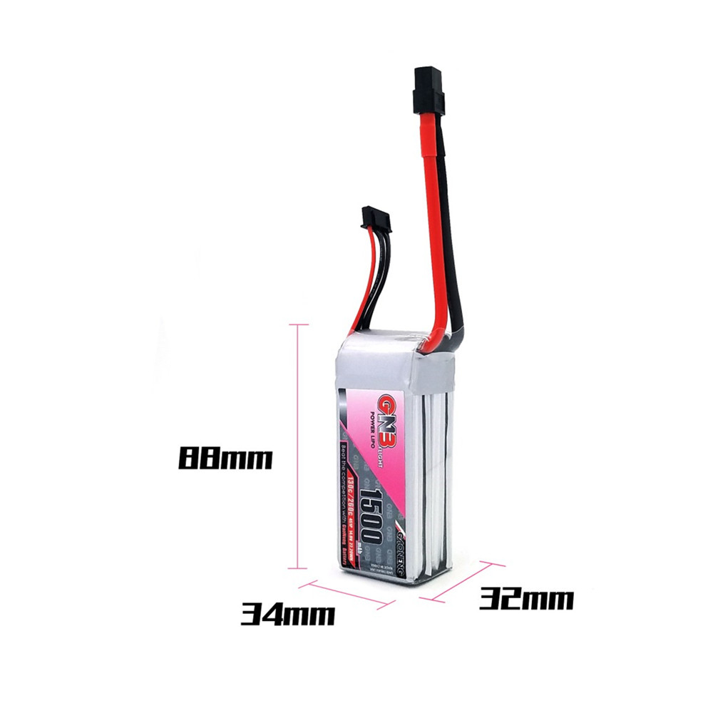 Gaoneng GNB 14.8V 1500mAh 4S 130C/260C Li-on Lipo Battery XT60 Plug for RC Drone