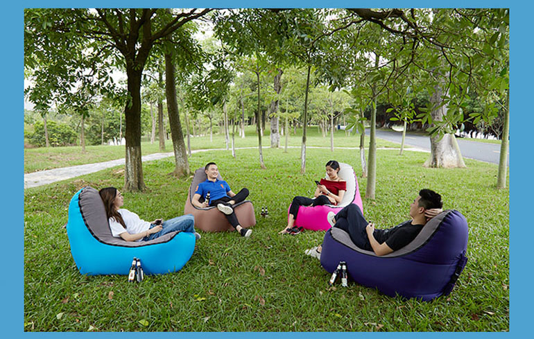 KCASA KC-212 Air Bed Inflatable Sofa Lounger Outdoor Fast Folding Sleeping Air Sofa Inflatable Chair Stool