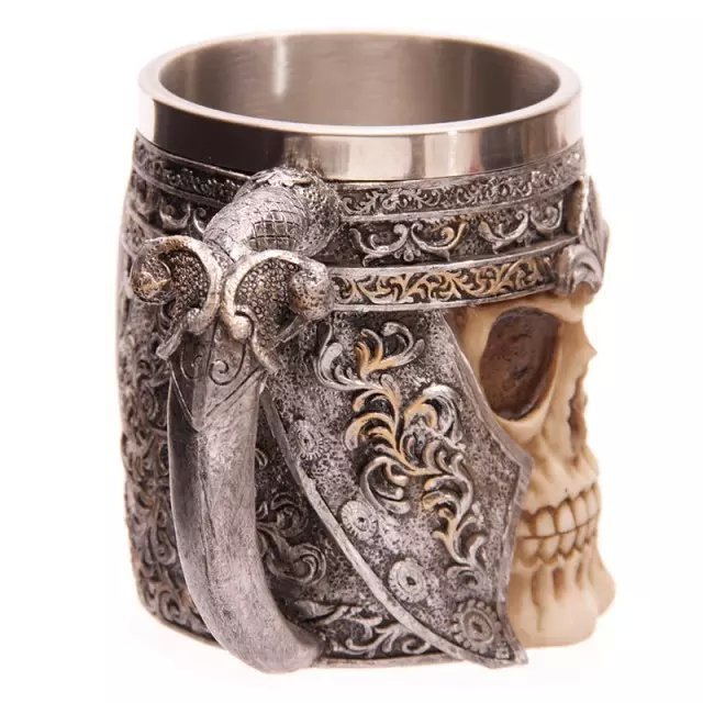 Creative skull Red Wine goblet 3D stereoscopic stainless knight Wine Glass