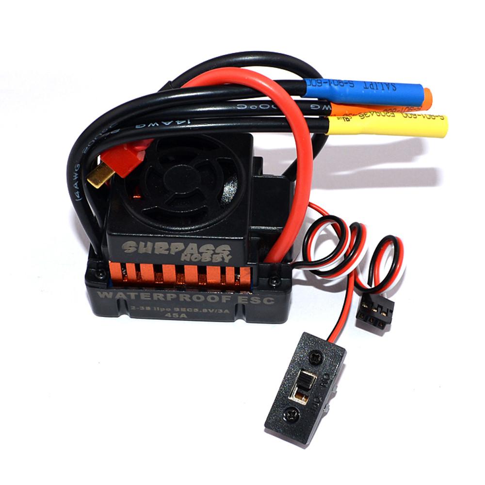 Surpass Hobby Waterproof F540 3300KV Brushless Rc Car Motor +45A ESC Combo Set For 1/10 Rc Car - Photo: 8