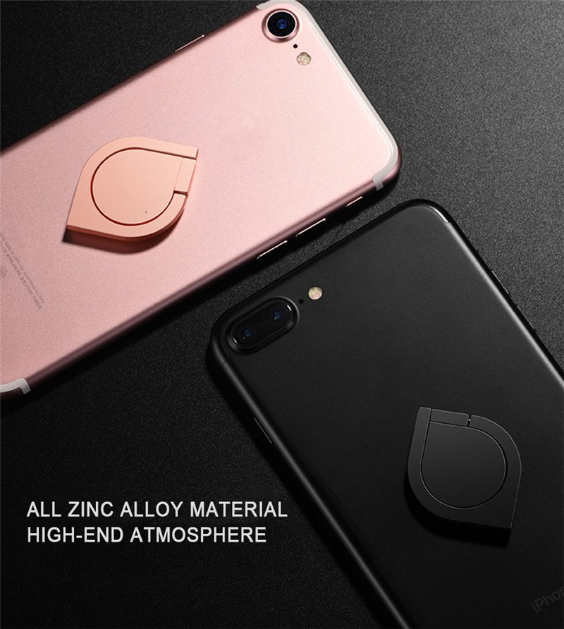 Bakeey Metal Strong Adsorption Desktop Phone Holder Finger Ring Stand for iPhone 8 X Xiaomi