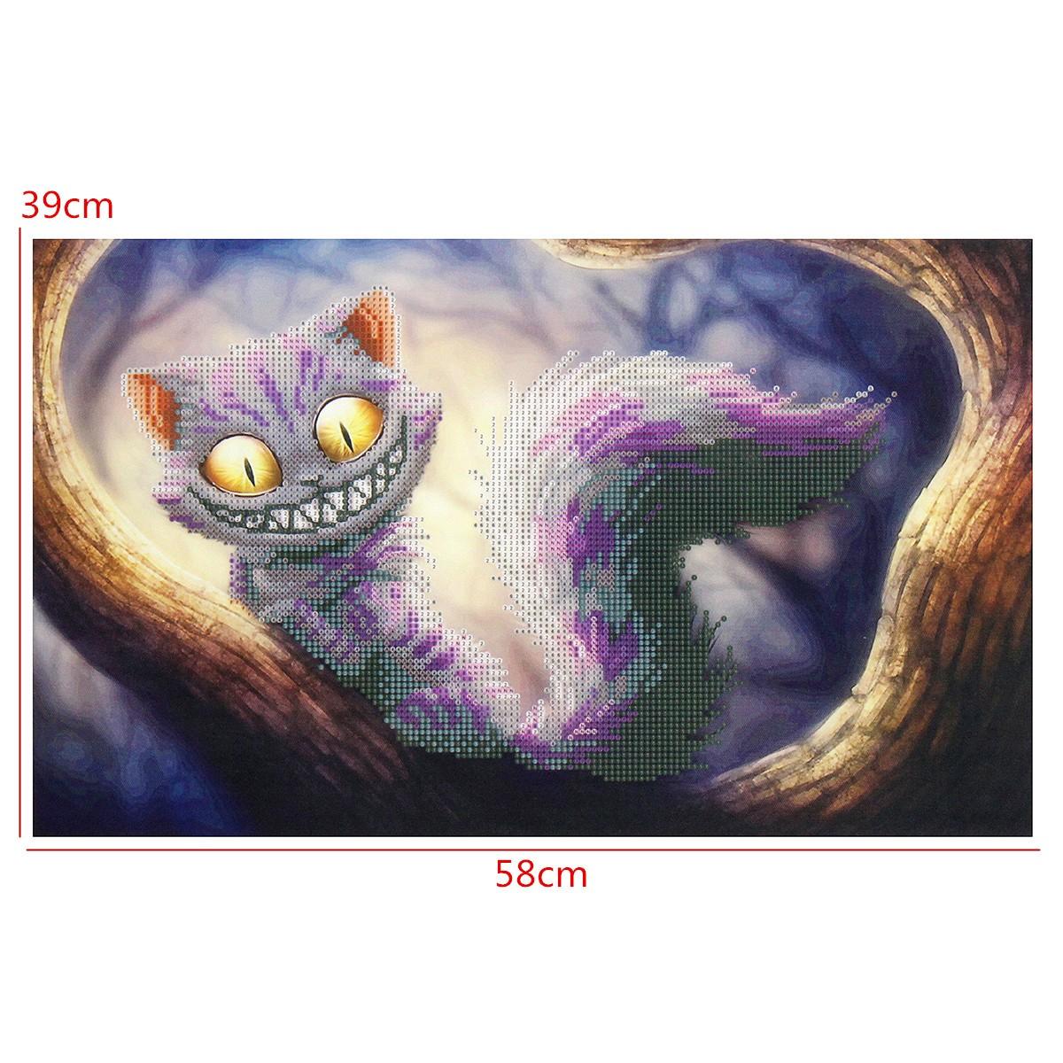 DIY 5D Diamond Embroidery Cat Diamond Painting Cross Stitch Kits Home Decor