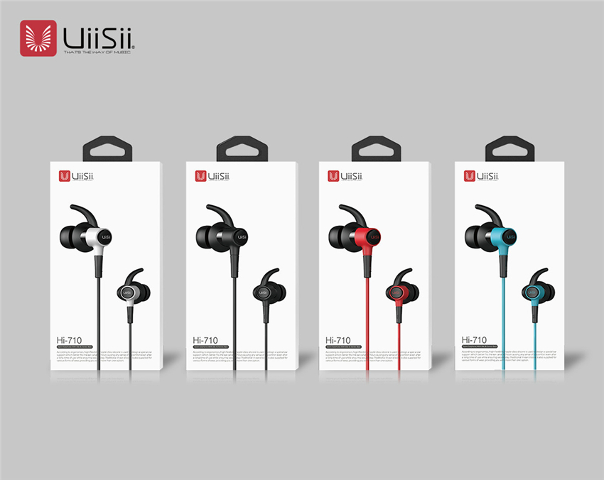 UiiSii Hi-710 Sport In-ear IPX4 Waterproof Dynamic Driver Wired Control Heavy Bass Earphone With Mic