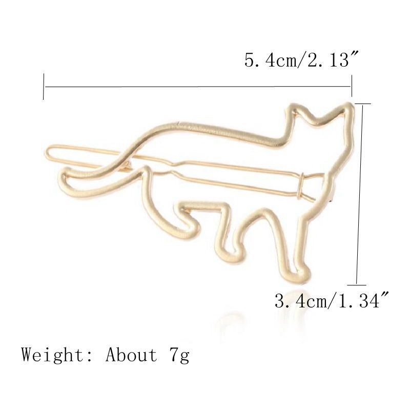 Cute Hair Clip Hollow Metal Animal Irregular Hair Accessorie