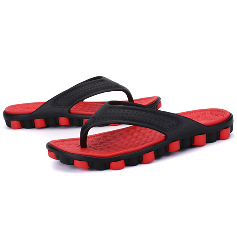 Men's Casual Sports Slippers Non-Slip Breathable Beach Bath Sandals Soft Flat Slippers