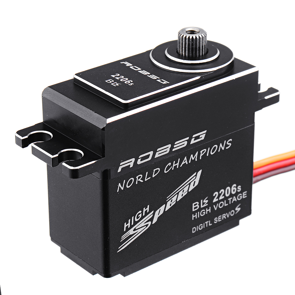 ROBSG BLS2206S 25KG Brushless Waterproof Metal Gear Digital Servo For 1/8 1/10 RC Car 600-700 Class RC Helicopter - Photo: 4