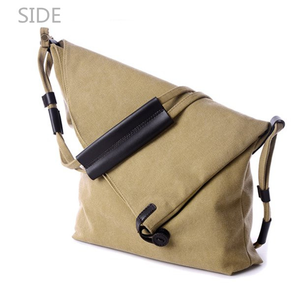 Women Canvas Bags Casual Black Buttom Shoulder Bags Crossbody Bags