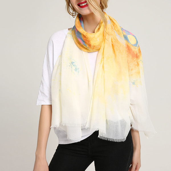 Women Fashion Printing Butterfly Scarf Beach Outdoor Shawl