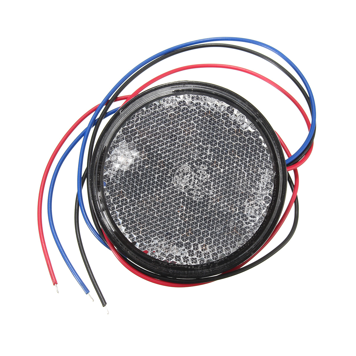 6W 24LED Round Reflector LED Rear Taillight Brake Stop Light For Motorcycle 7 Colors