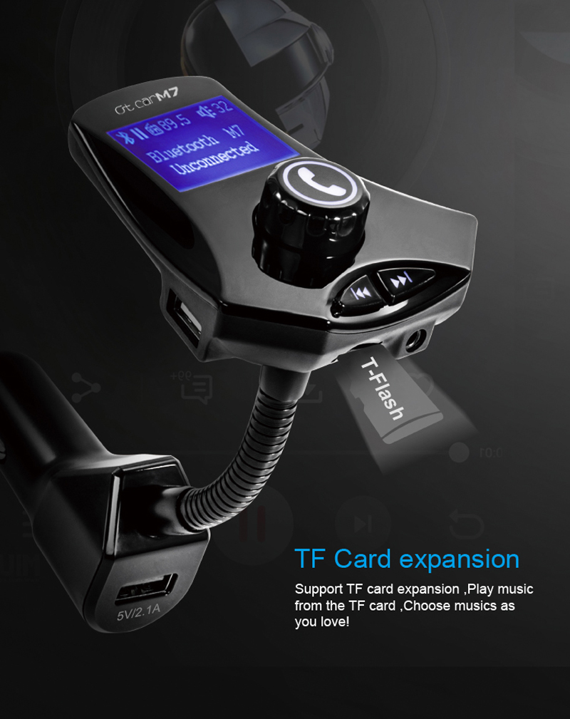 Bakeey M7 bluetooth Car FM Transmitter USB Car Charger For iphone X 8/8Plus Samsung S9 S8 Xiaomi mi5