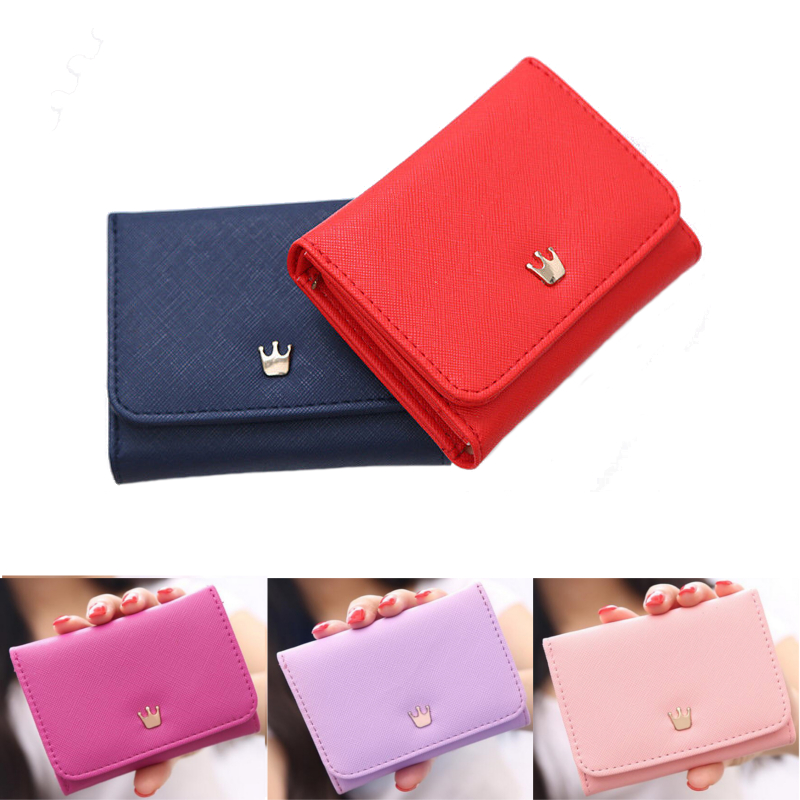 Specification: Material PU Leather Size 10x2x7cm Weight Approx. 90g Color Pink, Royal Blue, Red, Dark Purple, Rose Red, Light Green, Violet Purple Features: - Open Method: snap fastener. - Ideal for putting cards, money, coin, etc. - You can simply hold i #purse