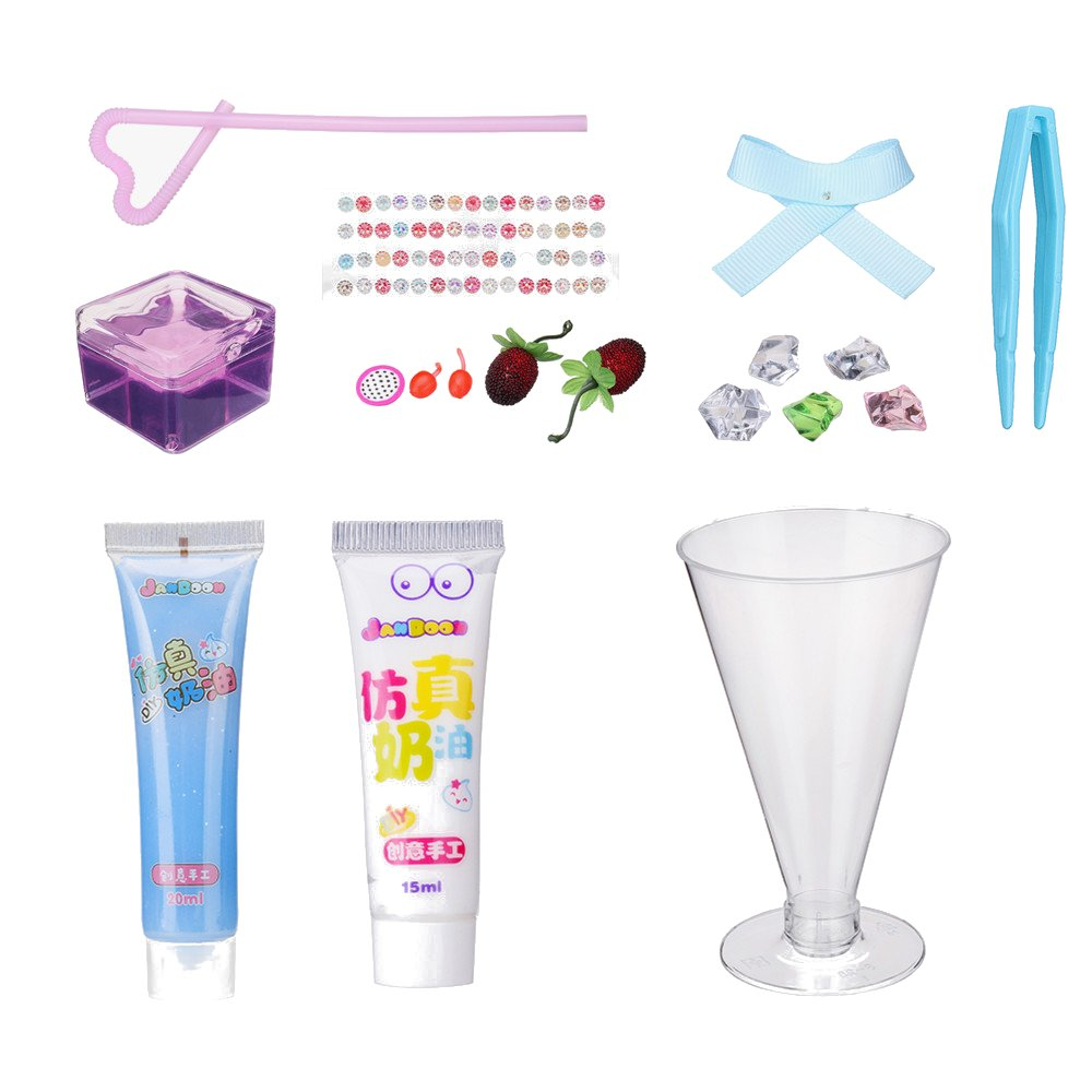 Jandoon Cocktail Slime Kit Crystal Mud DIY Clay Drink Design With Bottle And Tools
