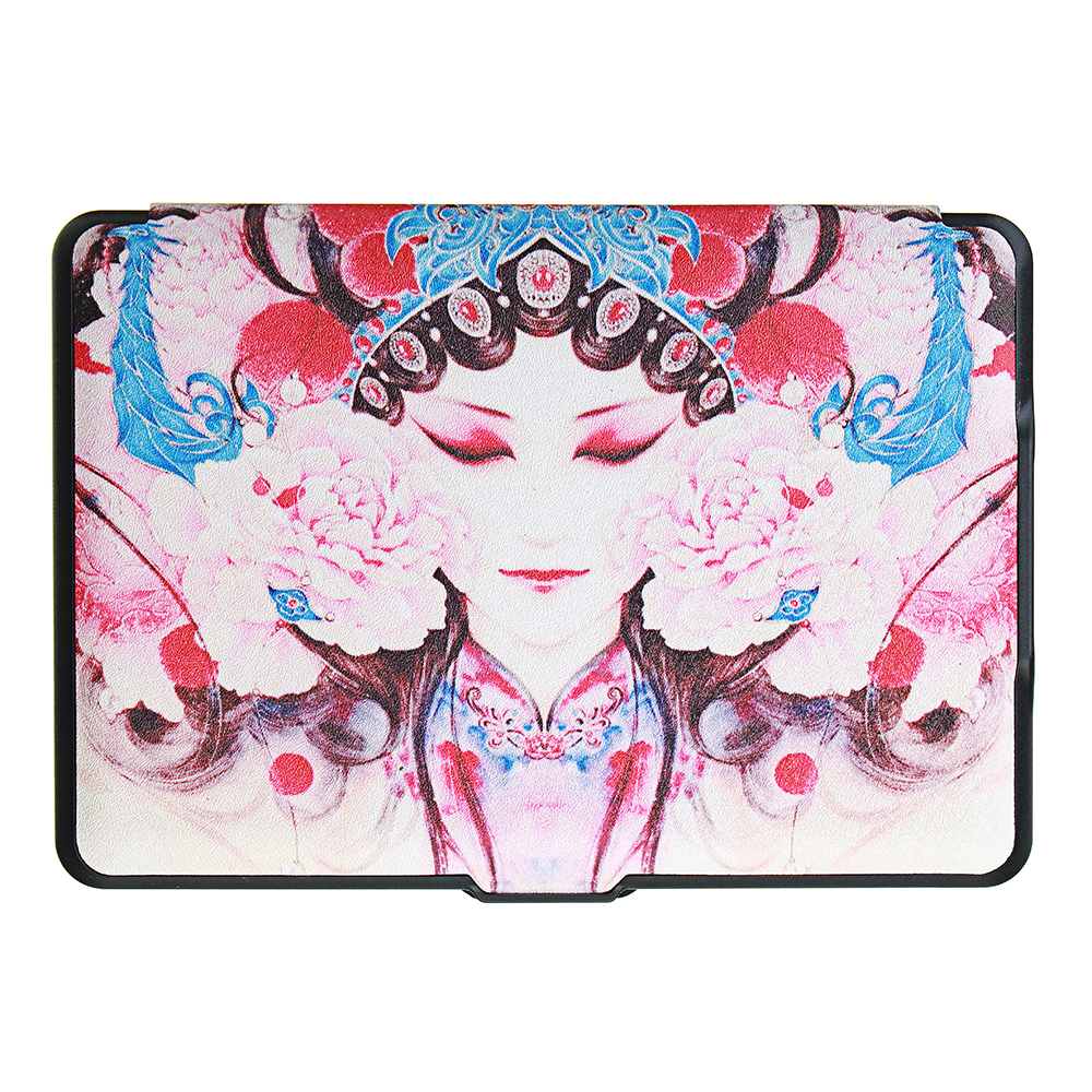 ABS Plastic Peking Opera Painted Smart Sleep Protective Cover Case For Kindle Paperwhite 1/2/3 eBook Reader