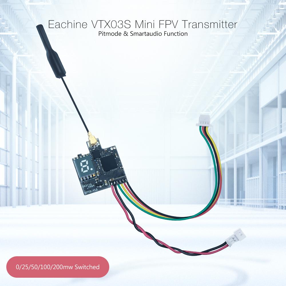 Eachine VTX03S 0/25/50/100/200mw 40CH 5.8G FPV Transmitter With PITmode Smartaudio Function