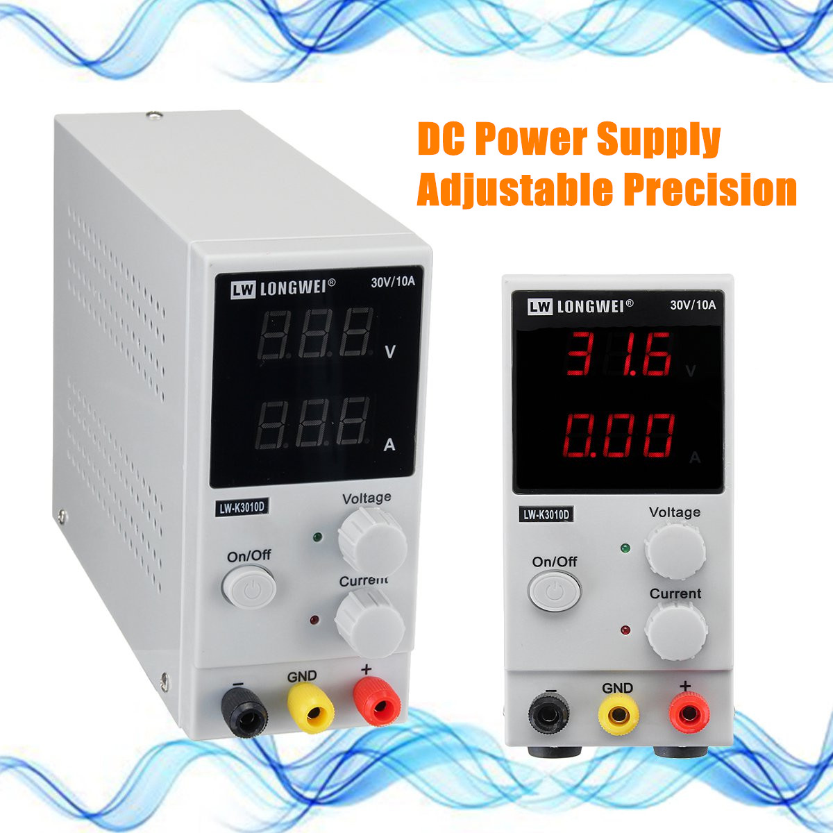 0-30V 0-10A 220v Adjustable LCD Digital Switching DC Power Supply for Lab