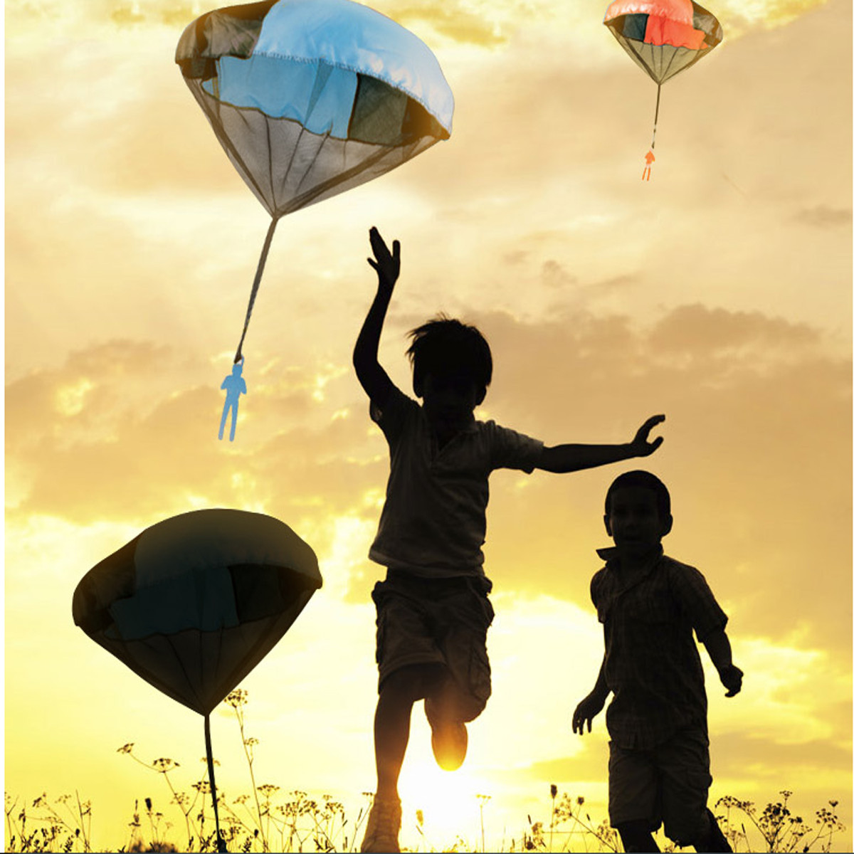 Kids Tangle Toy Hand Throwing Parachute Kite Outdoor Play Game Toy