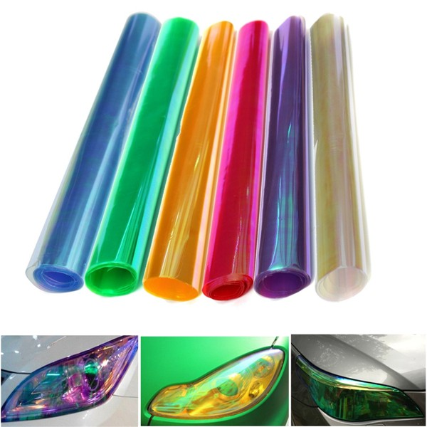 Light Tinting Film Sticker Headlight Taillight Chameleon For Motorcycle Car