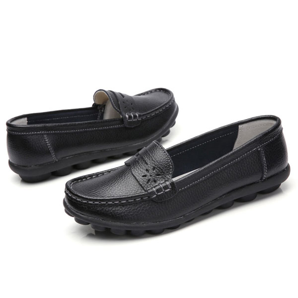 US Size 5-13 Pure Color Soft Sole Round Toe Slip On Flat Loafers