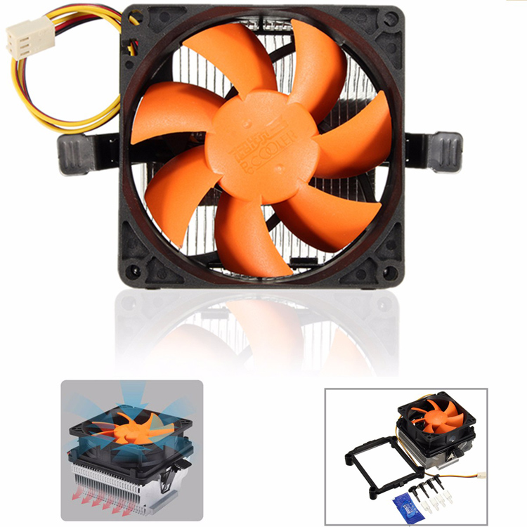 80mm Quiet CPU Cooling Fan Heat Sink For Intel GA775 LGA1156X LGA1155 AMD AM2/2+ AM3