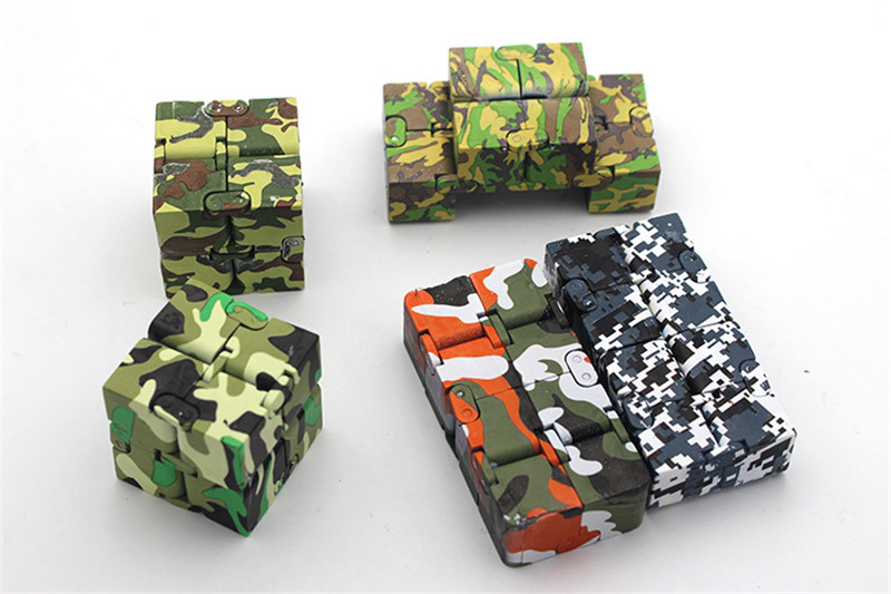 ABS Camouflage Fidget Infinite Cube Anxiety Stress Relief Fidget Focus Adults Kids Attention Toys