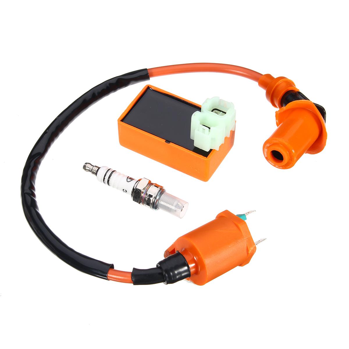Racing CDI Ignition Coil Spark Plug For Gy6 50CC 125CC 150CC