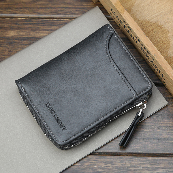 Baellerry Men Multifunctional Short Wallet Card Holder