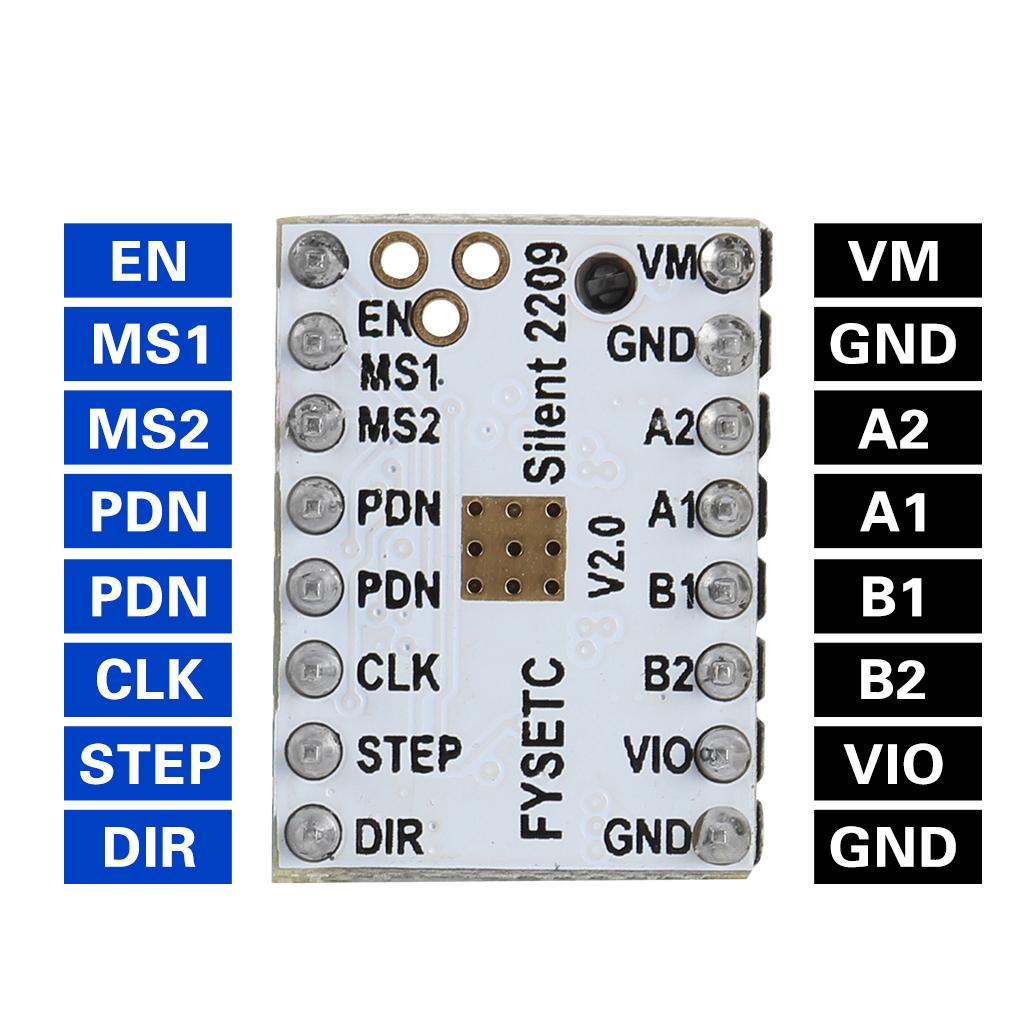 TMC2209 V2.0 Stepper Motor Driver Super Silent Stepsticks Mute Driver Board 256 Microsteps For 3D Printer Parts
