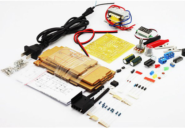 LM317 Adjustable Voltage EU 220V Power Supply Module Kit Electronics DIY Spare Parts
